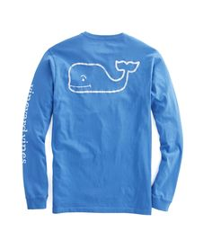 Shop Long-Sleeve Vintage Whale Graphic Pocket T-Shirt at vineyard vines