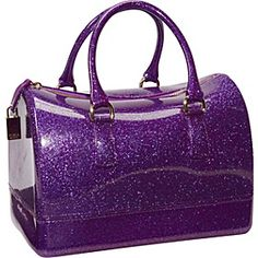 Candy Glitter Rubber Small Bauletto Uva Glam -Purple  with <3 from JDzigner. www.jdzigner.com