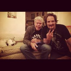 Ron and Kim (and Theo Rossi's dog)