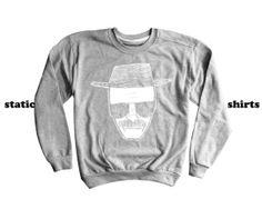 Heisenberg Sweatshirt  Breaking Bad Clothing  by StaticShirts