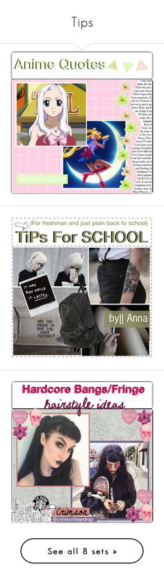 """""""Tips"""" by insane-alice-madness ❤ liked on Polyvore featuring art, anime, film, tip, Annaot, hardcore, hairstyles, ideas, interior and interiors"""