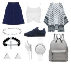 """""""Another day at school"""" by susanna-trad ❤ liked on Polyvore featuring Oasis, Topshop, Lamoda, adidas Originals, Skagen, Palm Beach Jewelry, Cristina Ortiz and Jennifer Meyer Jewelry"""