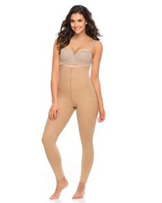 10399ef00b Leonisa Low back Below Knee Butt Lift Compression Bodysuit - Australia s  Compression Garment Specialists