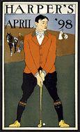 Vintage Harper's Bazaar Golfer Cover. Giclee printed, available in many sizes, unframed or framed in vintage wood frame.