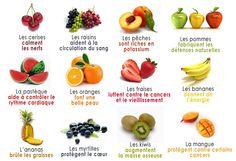 Les fruits: leurs bienfaits.