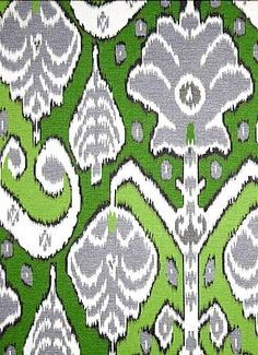 Market Marvel Fern - HGTV HOME FABRIC Market Marvel Sunset - cotton fine line twill, tribal ikat fabric, wonderful multi purpose home decorating fabric. Ikat Fabric, Drapery Fabric, Fabric Combinations, Ikat Pattern, Printed Linen, Home Decor Fabric, Tribal Prints, Hgtv, Green And Grey