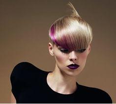 RIP Vidal Sassoon Amazing 5 Point Asymmetrical Candy Colored Hair
