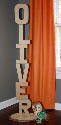 Cute cardboard letters