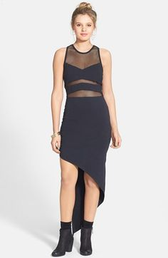 Volcom 'Barclay' Mesh Inset High/Low Body-Con Dress available at #Nordstrom