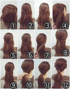 50 Simple And Creative Hairstyles For Long Hair- Both Braided and Free Styles - . # ponytail hairstyles casual 50 Simple And Creative Hairstyles For Long Hair- Both Braided and Free Styles - . Twist Ponytail, Simple Ponytails, Ponytail Easy, Easy Updo, Braids Easy, Messy Braids, Wedding Ponytail, Hair Wedding, Wedding Braids