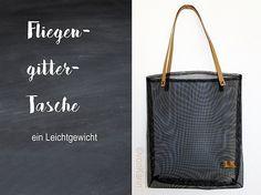 DIY vonKarin - Tasche aus Fliegengitter und Snappap genaeht