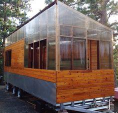Clear corrugated plastic Inglewood House, Corrugated Plastic, Small Houses, Little Houses, Tiny Houses, Small Homes, Tiny Homes, Tiny Cabins