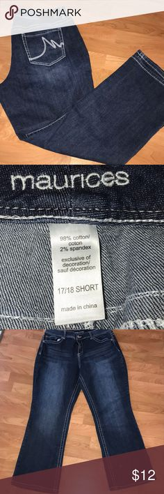 Maurices jeans size 17/18 short Maurices jeans size 17/18 in short length Maurices Jeans Boot Cut