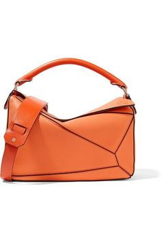 Loewe - Puzzle Medium Textured-leather Shoulder Bag - Orange Orange  Shoulder Bags b168dadc43827