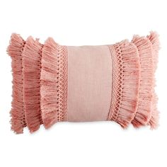 12 x 18 in. Fringe Decorative Throw Pillow by Peri Home