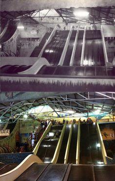 Luna Park's Coney Island giant slides in the and Sydney Orlando. By Phil Harvey] Luna Park Sydney, Phil Harvey, Coney Island, North Shore, Continents, 1930s, School Stuff, Orlando, Sailing