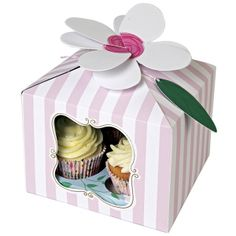 Cupcake boxes for 4 cupcakes - I'm a Princess - pack of 3