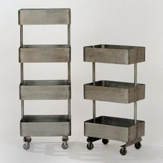 I love the industrial look! A cool and modern (and inexpensive) way to add storage to any room. I'd like the shorter option for my bathroom.