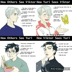 How else can this get anymore accurate? ~ ~ Art by @ unoriginal-rinrin on Tumblr ~ ~ How Yuri sees Victor is insanely accurate ❤