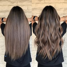 Los Angeles Hairstylist/color on Instagr… - Top Of The World Ombre Hair, Brown Hair Balayage, Hair Highlights, Ashy Brown Hair, Dark Balayage, Short Balayage, Balayage Straight, Bayalage, Truss Hair