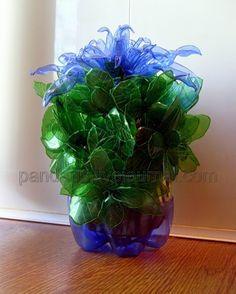 recycling plastic bottles: exotic flowers from plastic bottles | make handmade, crochet, craft