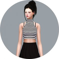 Idol Crop Top at Marigold • Sims 4 Updates
