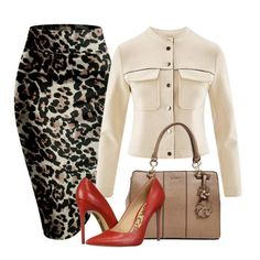Leopard Print Pencil Skirt – Dezigner Collections Style Outfits, Mode Outfits, Classy Outfits, Fashion Outfits, Womens Fashion, Fashion Tips, Fashion Trends, Office Outfits, Skirt Outfits