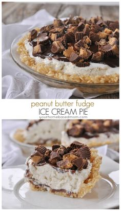 Peanut butter fudge ice cream pie from yourhomebasedmom