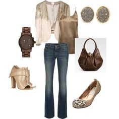 minor changes would make this perfect...different shoes (heels better) and bag-not my fave... a plain satin jacket in this color=better