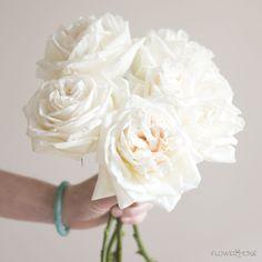 24 Ideas For Garden Rose White Bouquet Wedding Flowers Bridesmaid Bouquet White, White Wedding Bouquets, Wedding Flower Arrangements, Flower Bouquet Wedding, Floral Wedding, Diy Wedding, Garden Wedding, Diy Bouquet, Bridesmaid Ideas