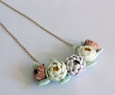 Julie Moon porcelain flower necklace.