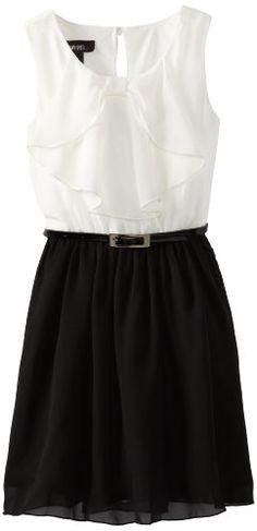 Amy Byer Big Girls' Bow Front Dress, Black, 7 Amy Byer http://www.amazon.com/dp/B00CESF1B4/ref=cm_sw_r_pi_dp_A.5.ub0VR3W2P