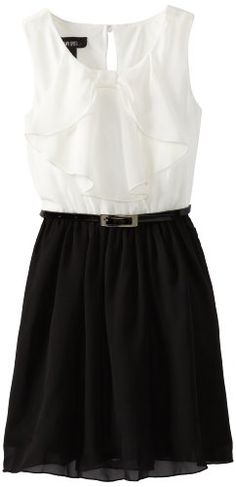 Amy Byer Big Girls' Bow Front Dress, Black, 7 Amy Byer http://www.amazon.com/dp/B00CESF1B4/ref=cm_sw_r_pi_dp_A.5.ub0VR3W2P