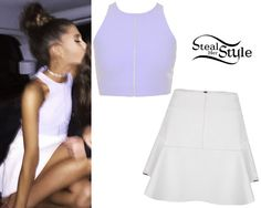 ♡steal her style Girly Outfits, Cute Outfits, Fashion Outfits, Steal Her Style, Selena Gomez, Ariana Grande Outfits, Mode Chanel, Bohemian Tops, Celebrity Style