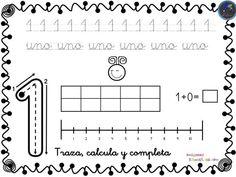 Fichas para trabajar los números del 1 al 30 -Orientacion Andujar Spanish Worksheets, Kindergarten Math Activities, Math Equations, Education, School, Gabriel, Printables, Study, Angel