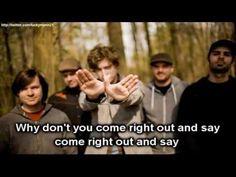 Relient K - Come Right Out And Say It (Lyrics On Screen Video HD) Pop Punk