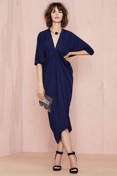 Metamorphose Dress - Navy | Shop What's New at Nasty Gal