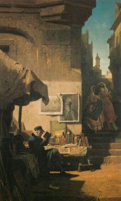 Carl Spitzweg, Art Periods, Classic Paintings, Antique Paint, Romanticism, Art Of Living, Figurative Art, Illustrators, Book Art
