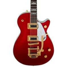 Gretsch Guitars FSR Two-Tone Electromatic Pro Jet with Bigsby Electric Guitar Candy Apple Red and White