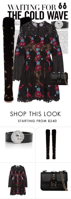 """Long Sleeve Dresses pt.2"" by perilousness-fashion on Polyvore featuring Versus, Aquazzura, Elie Saab, Valentino and Bibi Marini"