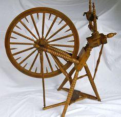 Swedish style spinning wheel.