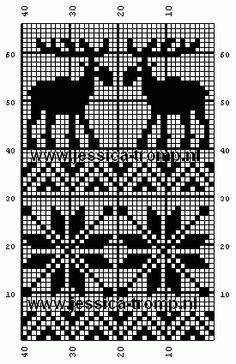 Discover thousands of images about free crochet filet patterns gratis filet haken haakpatronen Fair Isle Knitting Patterns, Knitting Charts, Knitting Designs, Knitting Stitches, Knitting Projects, Knitting Kits, Filet Crochet, Crochet Motifs, Crochet Chart