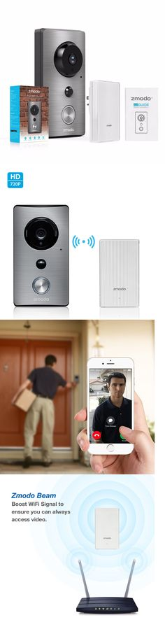 Surveillance Security Systems: Zmodo Wifi Extender W 720P Wireless Ir-Cut Audio Weatherproof Smart Doorbell -> BUY IT NOW ONLY: $79.99 on eBay!