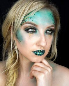 57 Best Gorgeous And Eye-catching Mermaid Makeup Inspirational For Party - Page 48 of 57 - Marble Kim Design