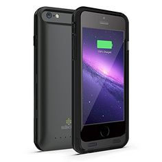 -LIMITED-TIME-SALE--iPhone-6s-6-Battery-Case-Black-Matte-Skra-47--MFi-Certified--Doubles-Battery-Life--Deluxe-Matte-Exterior-w-Secure-Nonslip-Grip--3100mAh-Capacity