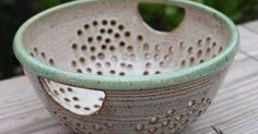 Handles. Bridges Pottery Colander Berry Bowl Strainer by ...