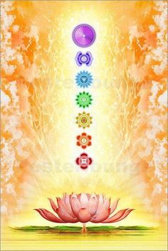 Chakra Meditation 154459462204603670 - Dirk Czarnota – Sacred Lotus Source by marieccecile Arte Chakra, Chakra Art, Chakra Healing, Chakra Symbols, Les Chakras, Seven Chakras, Yoga Kunst, Chakra Painting, Chakra Mantra
