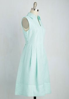 Aspirational Approach Dress. Your nearest and dearest are well aware of your inspirational ways, and in this mint blue shirt dress, the public can take part, too! #mint #modcloth