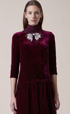 Wild Orchid, Velvet Fashion, Plus Size Fashion, Fashion Shoes, High Neck Dress, Tunic Tops, Womens Fashion, Color, Plum