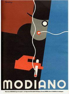 FUTURISMO: modiano 1930: compañia especializada en marcas de cartas y tambien la cual manufacturaba los papeles de los cigarrillos. Sus publicidades eran realizadas por artistas futuristas.